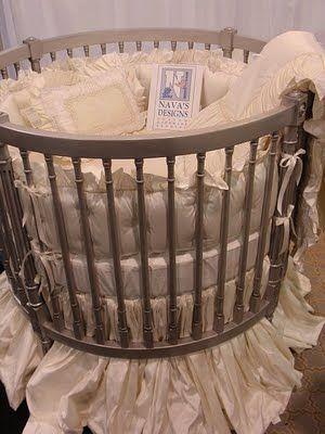 Round Crib Luxurious Bedding Yes Please Round Cribs Round