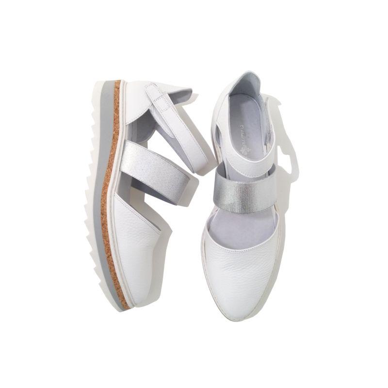 40f63b226771 Chaussures femme SANDALES Plateforme Cuir Blanc PHILIPPE MORVAN. Chaussures  tendance été 2018. Couleur Blanc