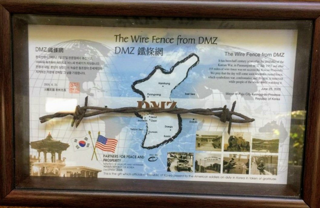 1950s Framed DMZ Barbed Wire Artifact From Korea - US Military Gift ...