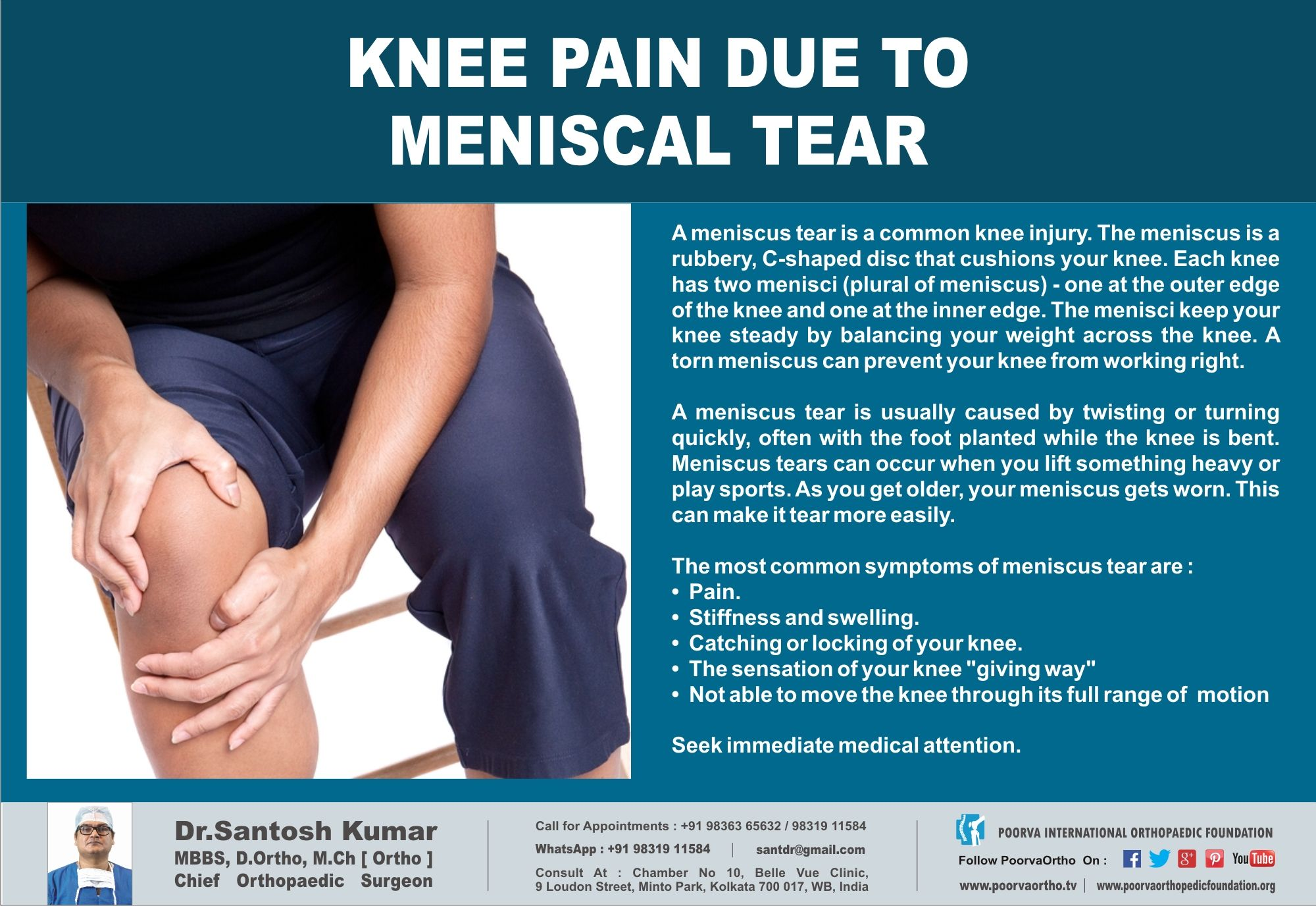 Knee pain due to meniscal tear know it check for the symptoms knee pain due to meniscal tear know it check for the symptoms log pooptronica Image collections