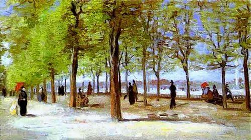 Vincent Van Gogh Terrace In The Luxembourg Garden 1886