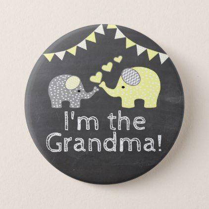 Yellow boy elephant chalkboard im the grandma button baby yellow boy elephant chalkboard im the grandma button baby gifts child new negle Image collections
