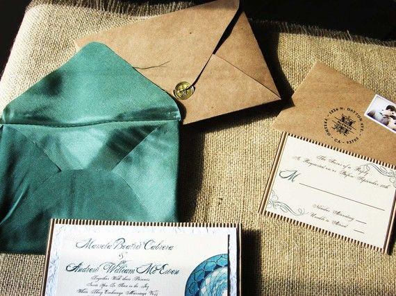 Elegance wedding invitation suitesatin envelope by Artations, $930.00