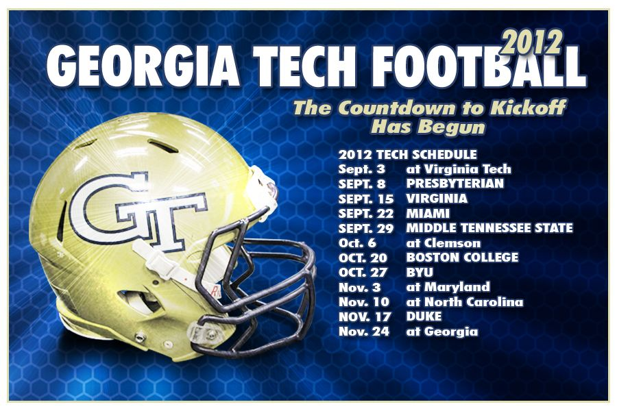 2012 Tech Football Schedule; and the first home