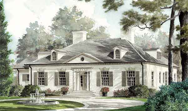 Regents Rowe Southern Living House Plans House Exterior House Plans