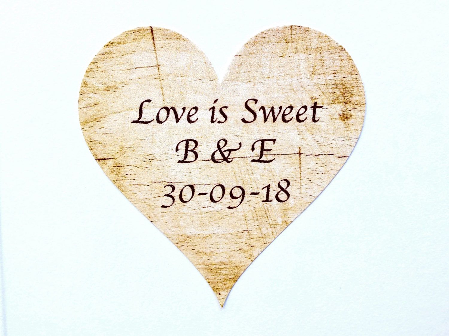 Personalised Wedding Stickers / Labels - Love is Sweet - Rustic Love ...