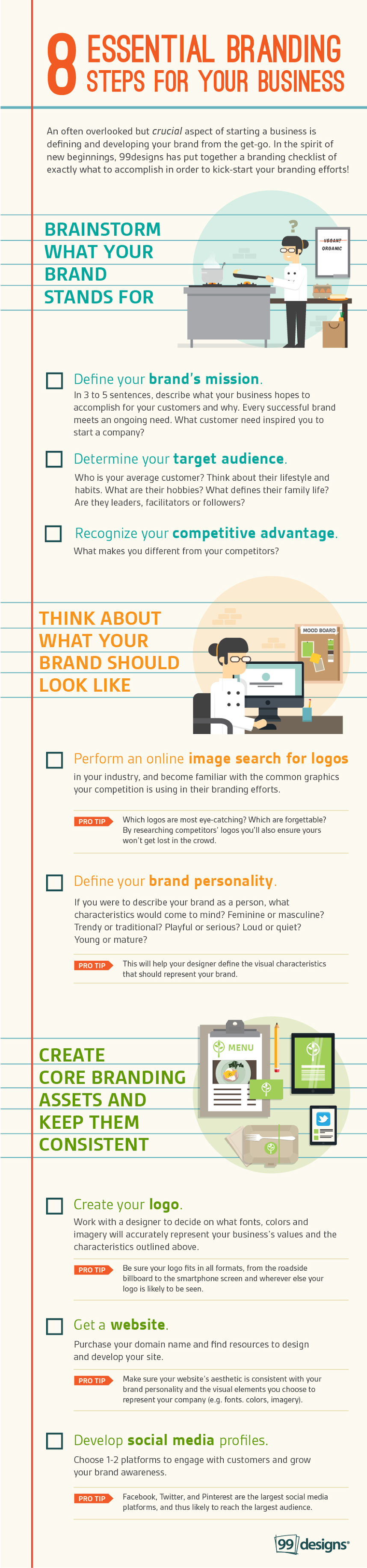 8 Important Steps To Take When Building A Brand Branding Checklist Small Business Branding Business Infographic