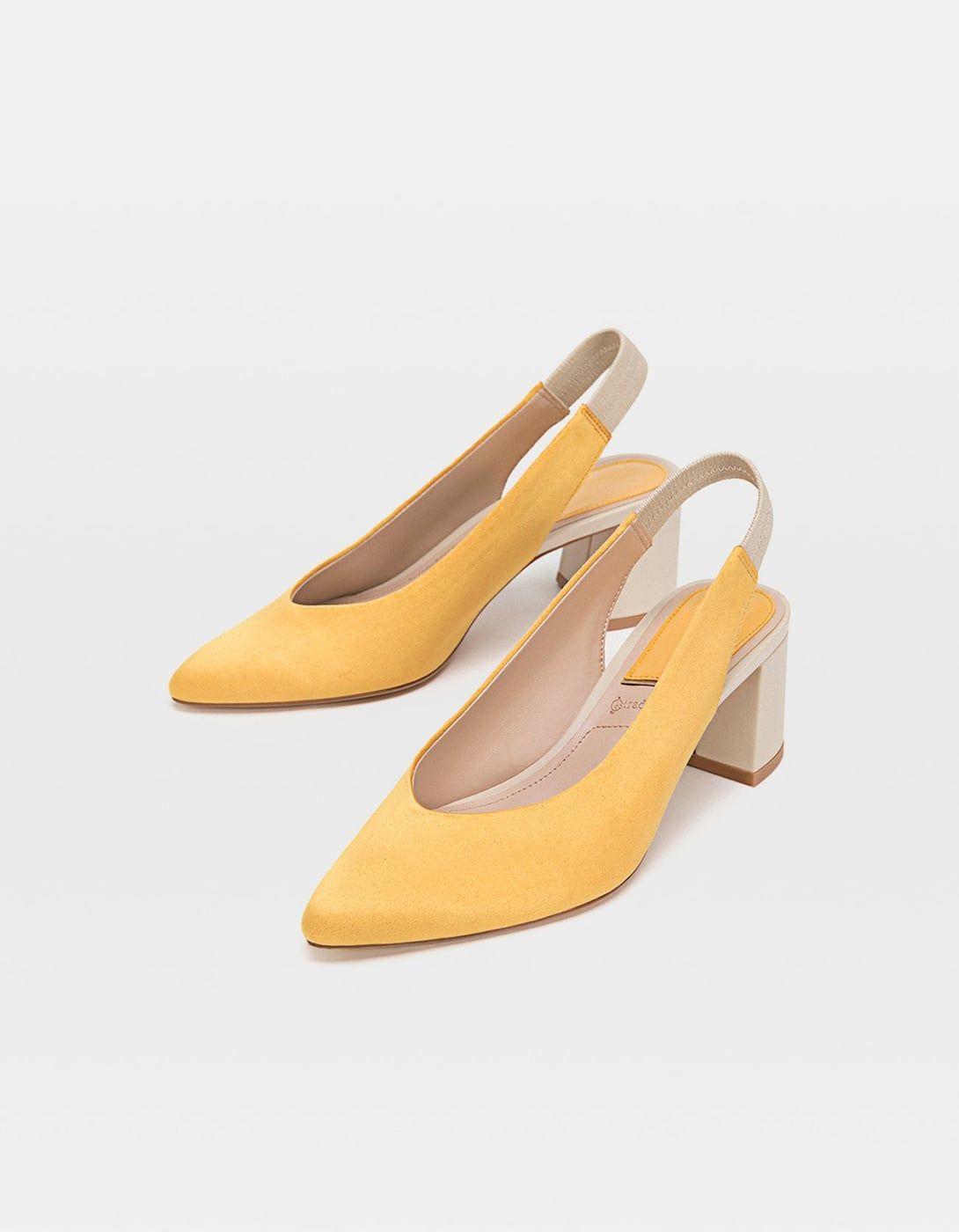 Moda Stradivarius Zapatos Amarillo Destalonados Look En 2019El v8Nwn0m