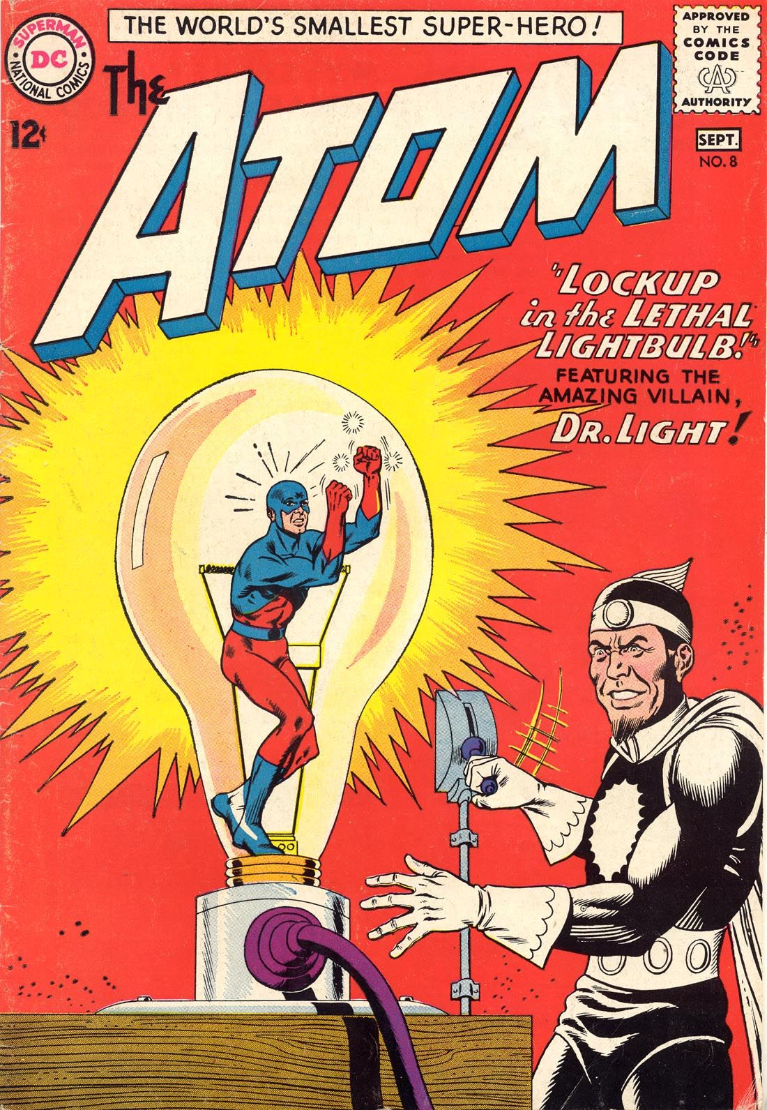 The Atom N°8, September 1963, Cover By Gil Kane And Murphy