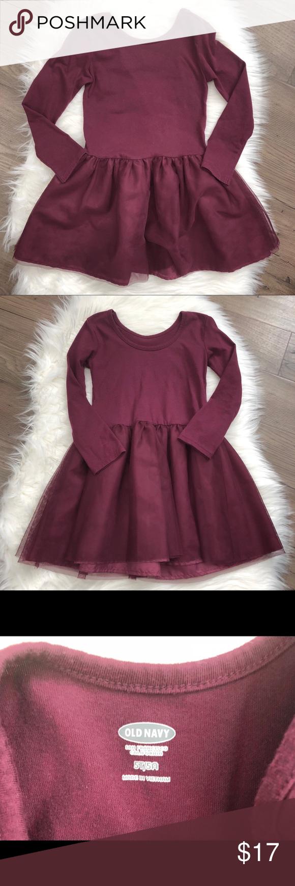 Old Navy Toddler Girls Burgundy Wine Tutu Dress 5t Old Navy Toddler Girl Dresses 5t Tutu Dress [ 1740 x 580 Pixel ]