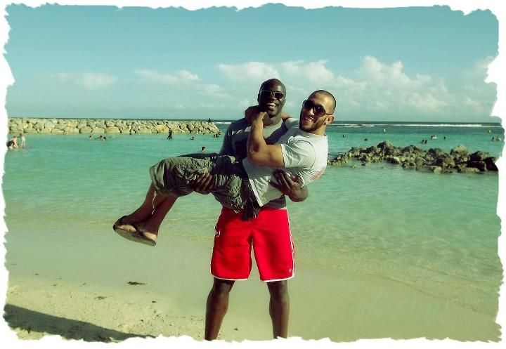 Cheick Kongo & french fighter Nayeb Hezam in Sainte Anne, Guadeloupe (French island)