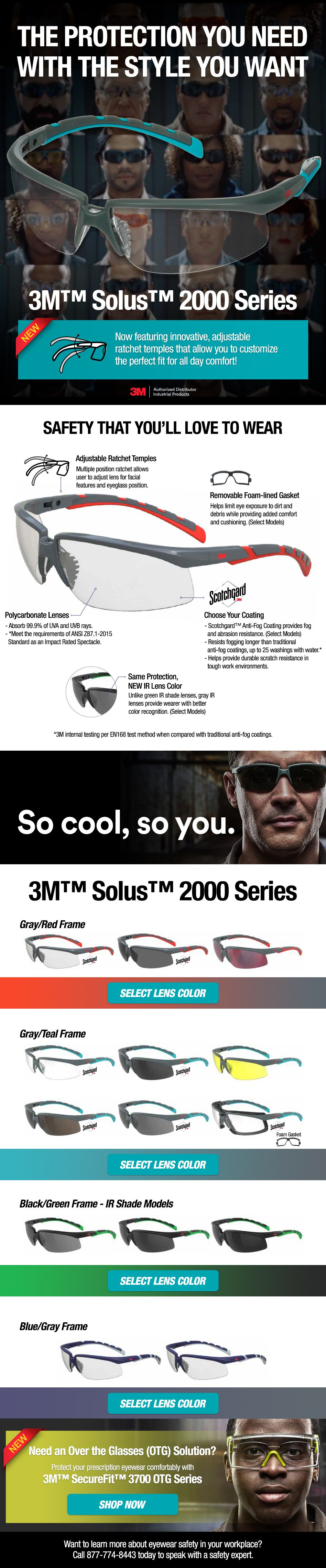 3m solus 2000 series safety glasses series personal
