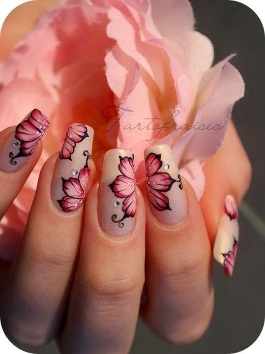 How To Make Flower On Your Nail