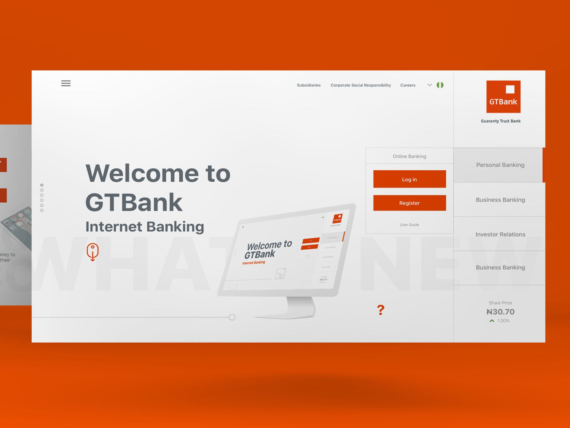 Bank S Website Home Page