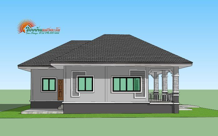 For Those On A Budget Elegant 3 Bedroom Single Storey House Ulric Home Bungalow Style House Plans House Construction Plan Small House Design Plans