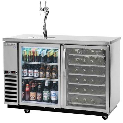 Beverage Air Dz58g 1 S Pwd 1 Led Double Tap Dual Zone Kegerator Beer