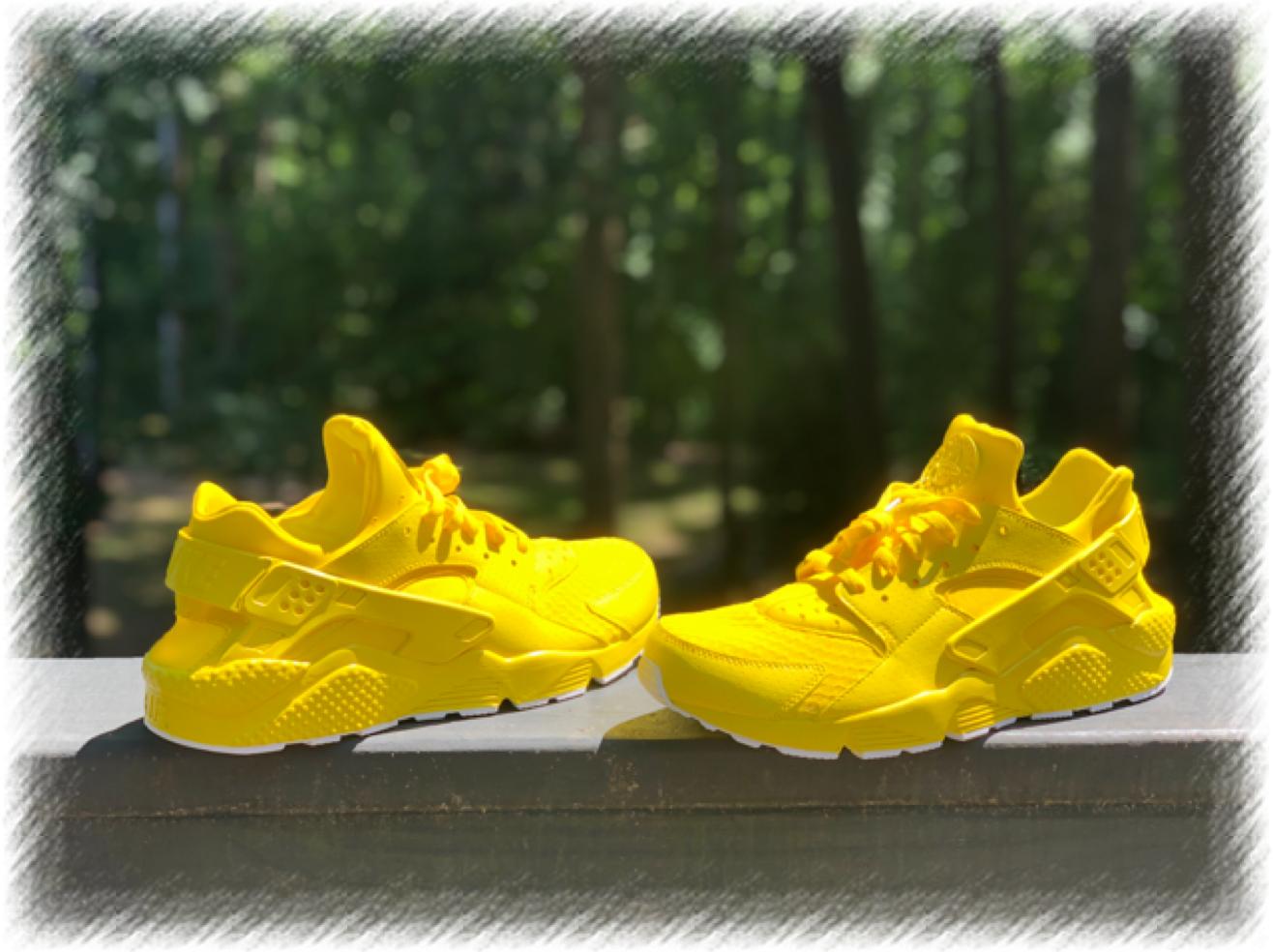 Sunshine Yellow Nike Huaraches custom available at