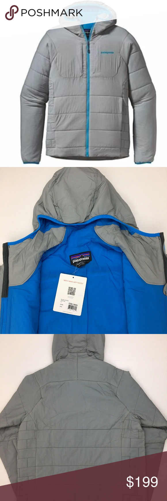 Men's Patagonia NanoAir Hoody Full Zip Jacket Zip
