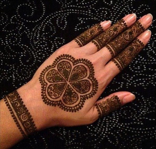 Back Hand Fingers Mehndi Design : Circle mehndi ideas on back hand and fingers fashion