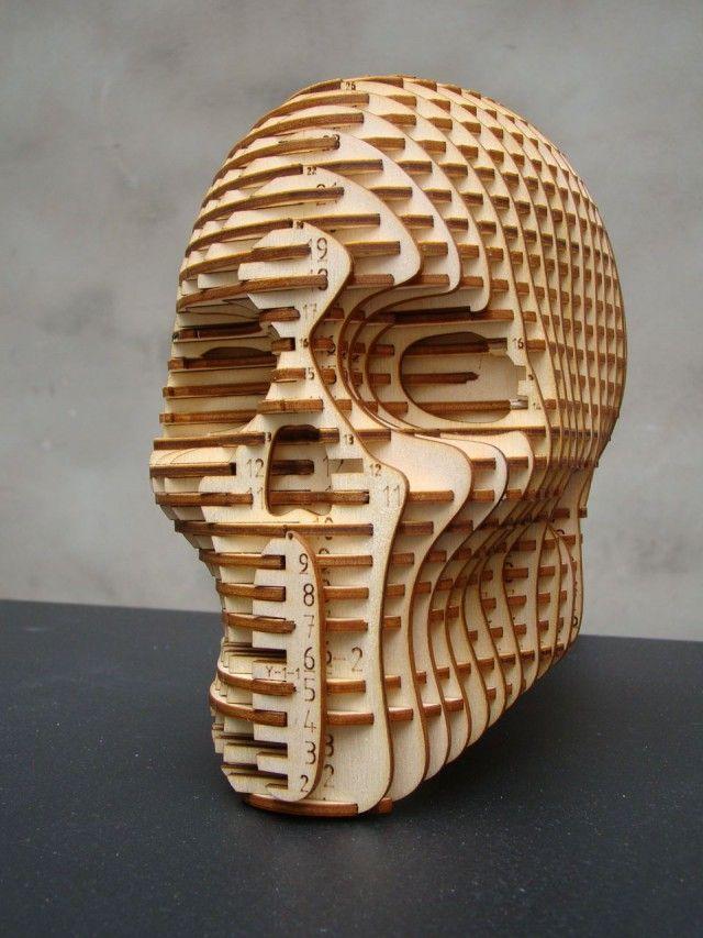 Obiekt 3d + 123d make = awsm! could be corrugated or wood art
