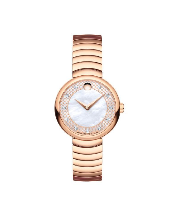 0ecd2be9e Movado | Myla Women's Small Rose gold PVD-finished stainless steel watch  with mother-of-pearl, rose gold-toned and diamond dial | Movado US
