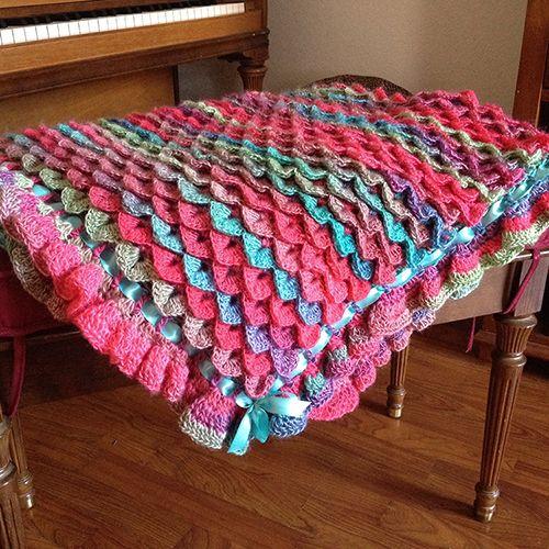 Crochet Guide: Crocodile Stitch Baby Blanket | Crochet/Knit/Quilting ...
