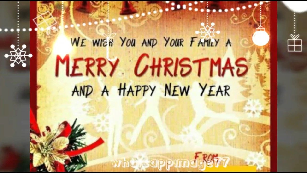 Merry Christmas Wishes Video Jungle Bell Happy New Year Wishes