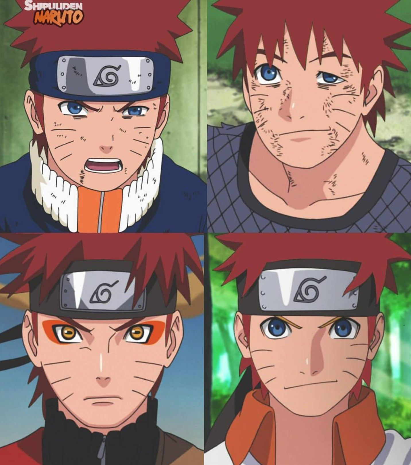 Naruto Looks Good With Red Hair Too 😍