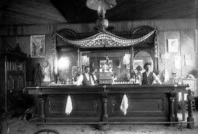 OLD WEST COWBOY GAMBLERS VINTAGE PHOTO SALOON POKER 1901