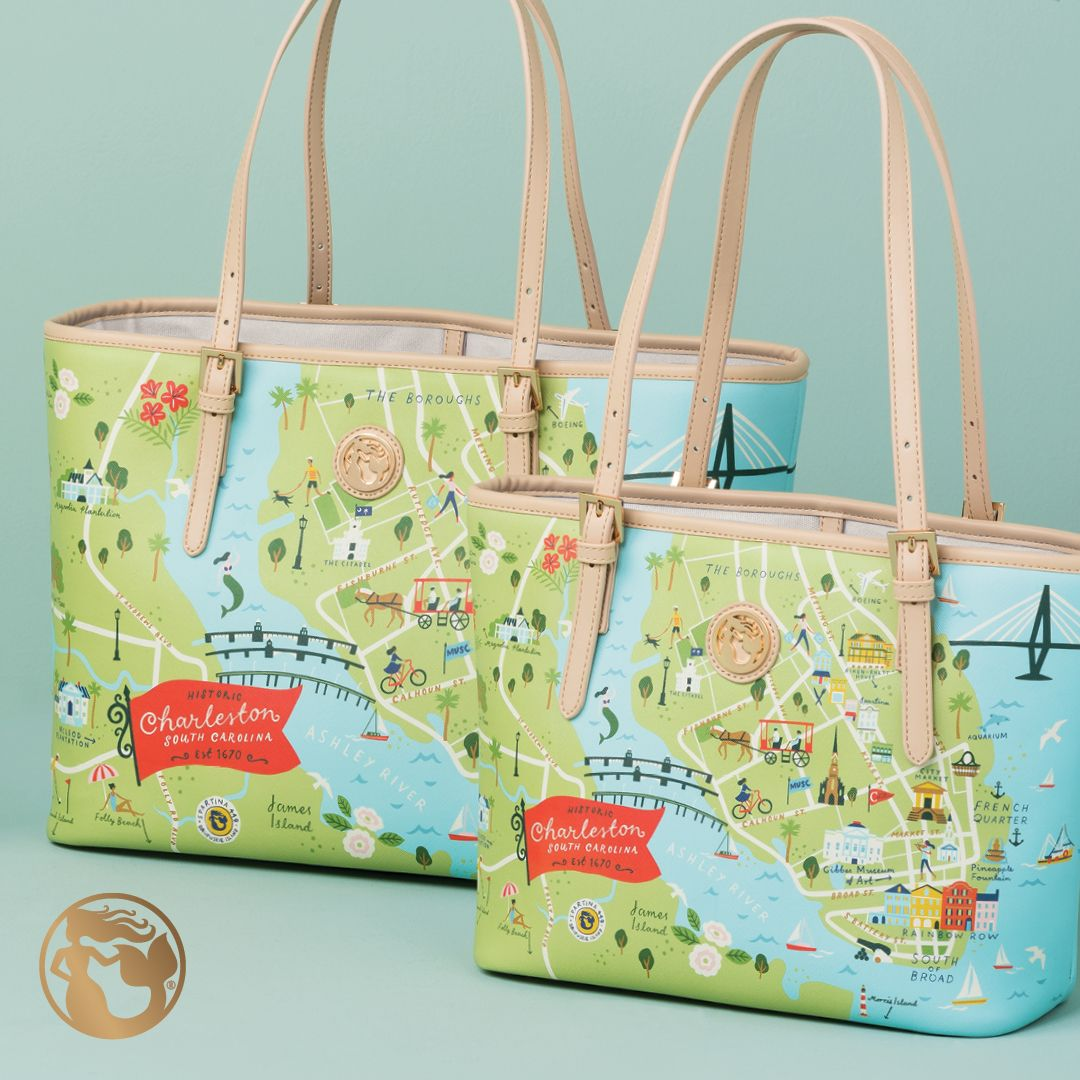 Spartina 449 Greetings From Charleston South Carolina Chs Lowcountry Mount Pleasant Folly Beach King Street The Holy City Handbags And