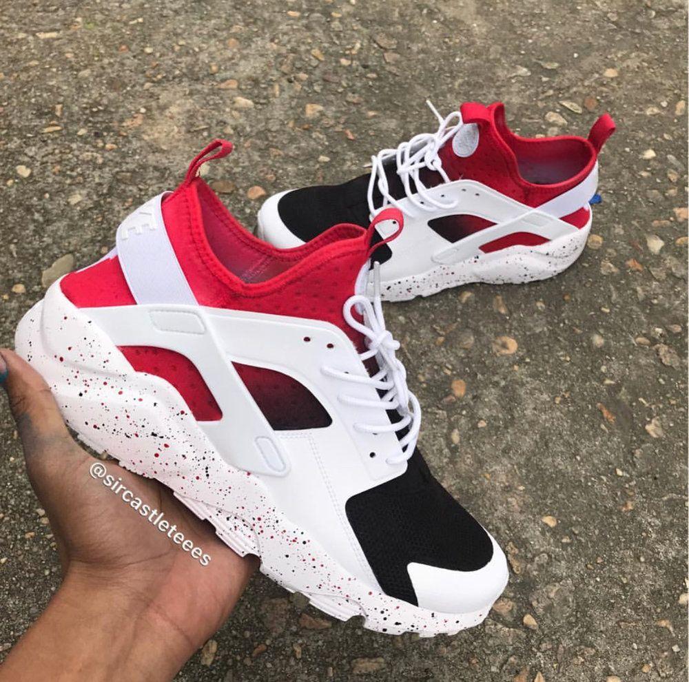 Red/Black Fade Huarache Ultra — Sircastleteees | Nike shoes ...