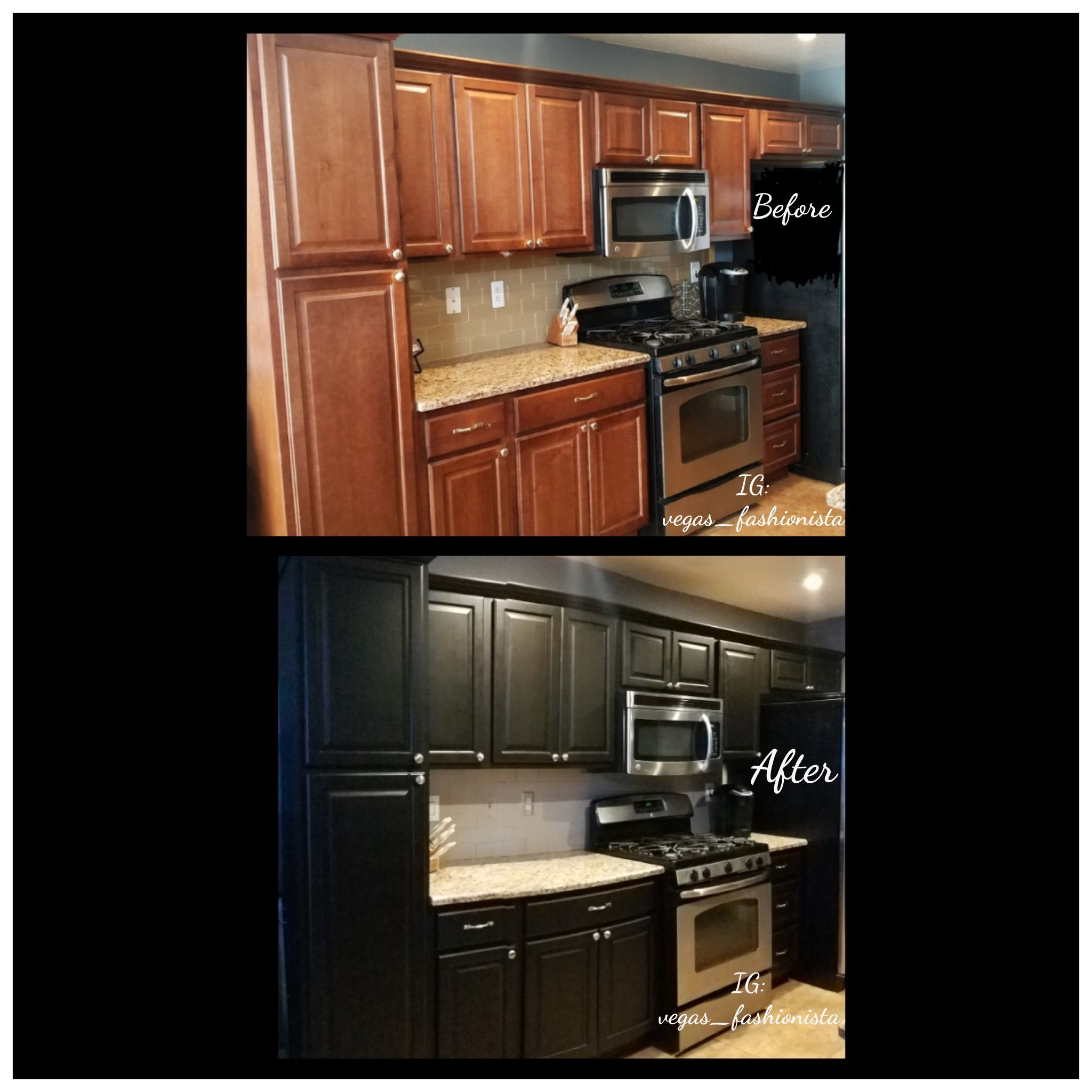 Diy Kitchen Cabinets After Espresso In Satin Finish W Polyurethane Did 4 Thin Coats With A 24hr Drying Per Diy Kitchen Cabinets Kitchen Cabinets Diy Kitchen