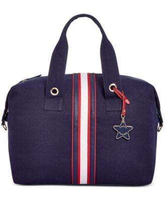 TOMMY HILFIGER Tommy Hilfiger Web Stripe Duffel . #tommyhilfiger #bags #canvas #leather #accessories #shoulder bags #charm #hand bags #