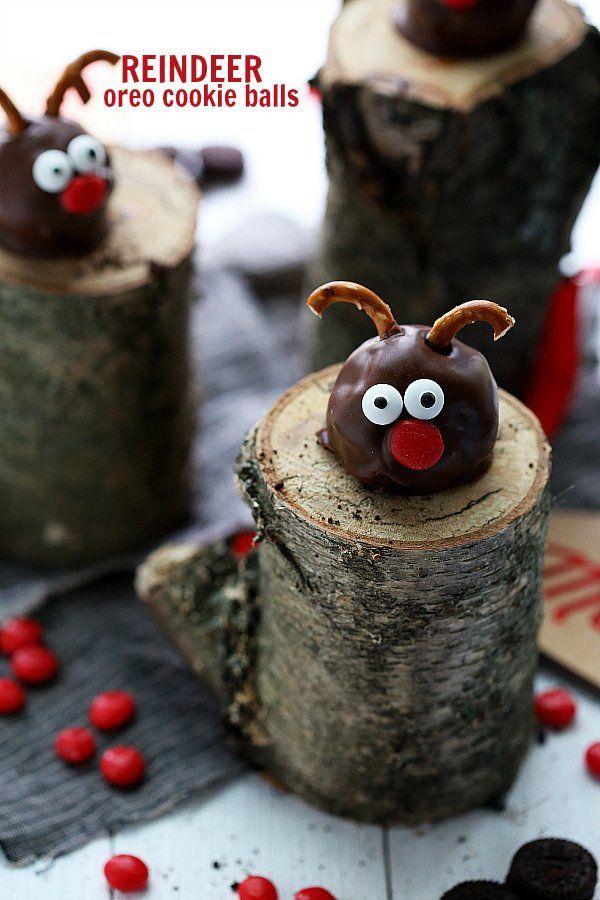 Reindeer and Snowman Oreo Cookie Balls + Oreo Stuffed Cookies @FoodBlogs