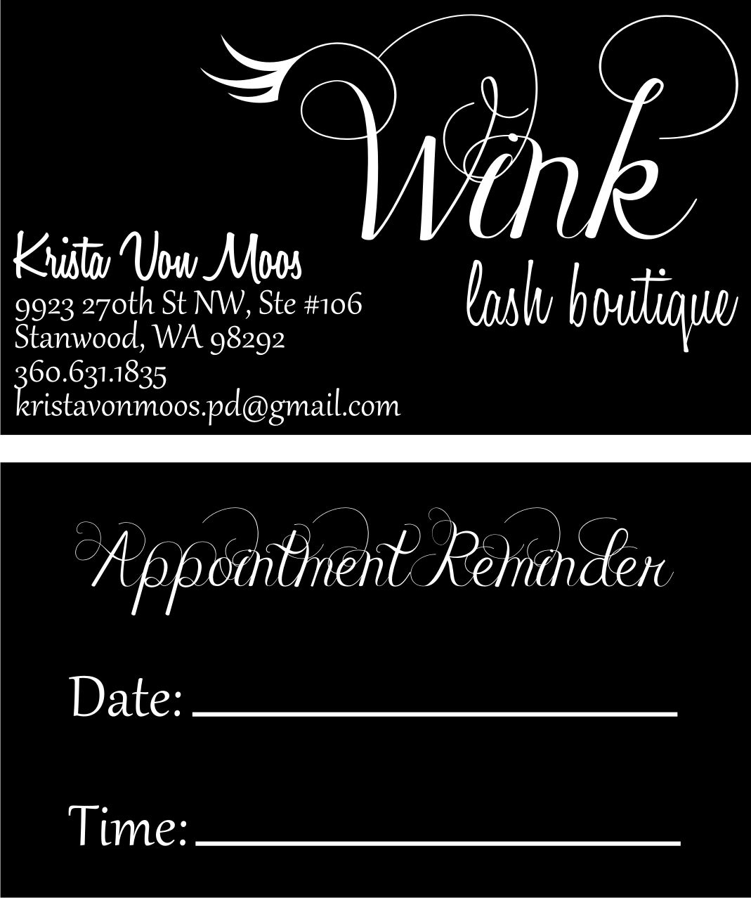 Custom business cards created by the Hats Off inhouse