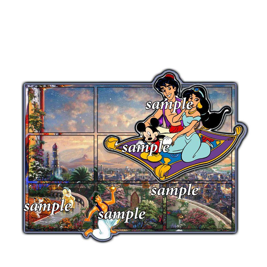 How to add scrapbook pages - Disney Aladdin Jasmine Sultan Ginsun Add On Scrapbook Page Paper Piece Die Cut Disney Scrapbook Paper