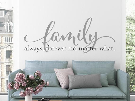 Family Wall Art Vinyl Lettering Family Sign Family Quote | Etsy