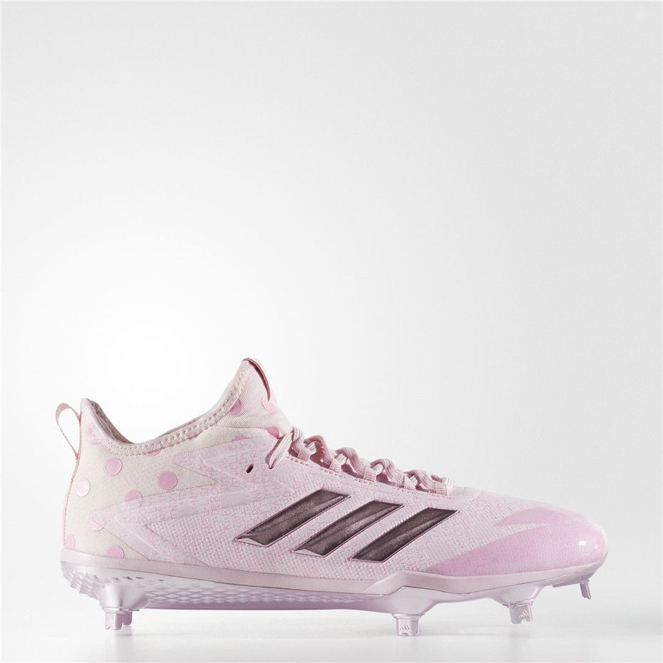 Adidas Adizero Afterburner 4 Cleats Clear Pink Pure Pink Clear Light Pink Sport Shoes Baseball Shoes Shoes Outlet