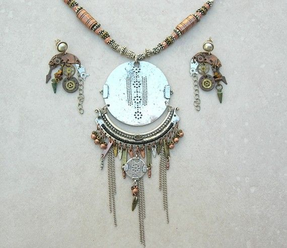 SUMMER SALE Chinese Necklace Set China Mod by SandraDesigns, $125.00