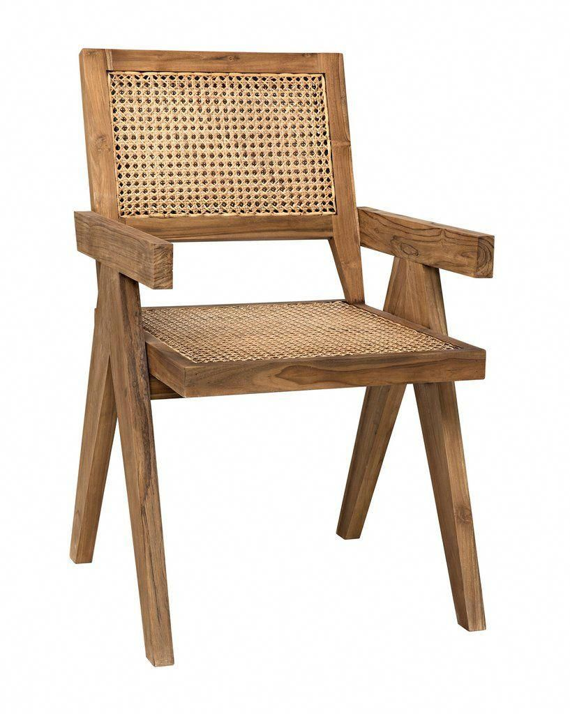Built From Teak With Back And Seat Cane Webbing The Judy Chair Adds A Modern And Minimalistic Edge Wit Cane Dining Chairs Solid Wood Dining Chairs Teak Chairs