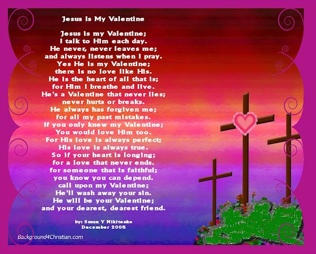 valentine poem for chilfdren or craft project called: jesus is my, Ideas
