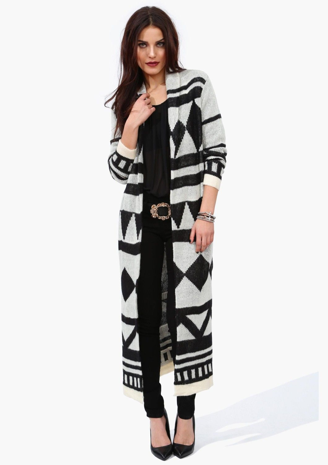 Super Long and comfy sweater with Aztec print: Necessary Clothing ...