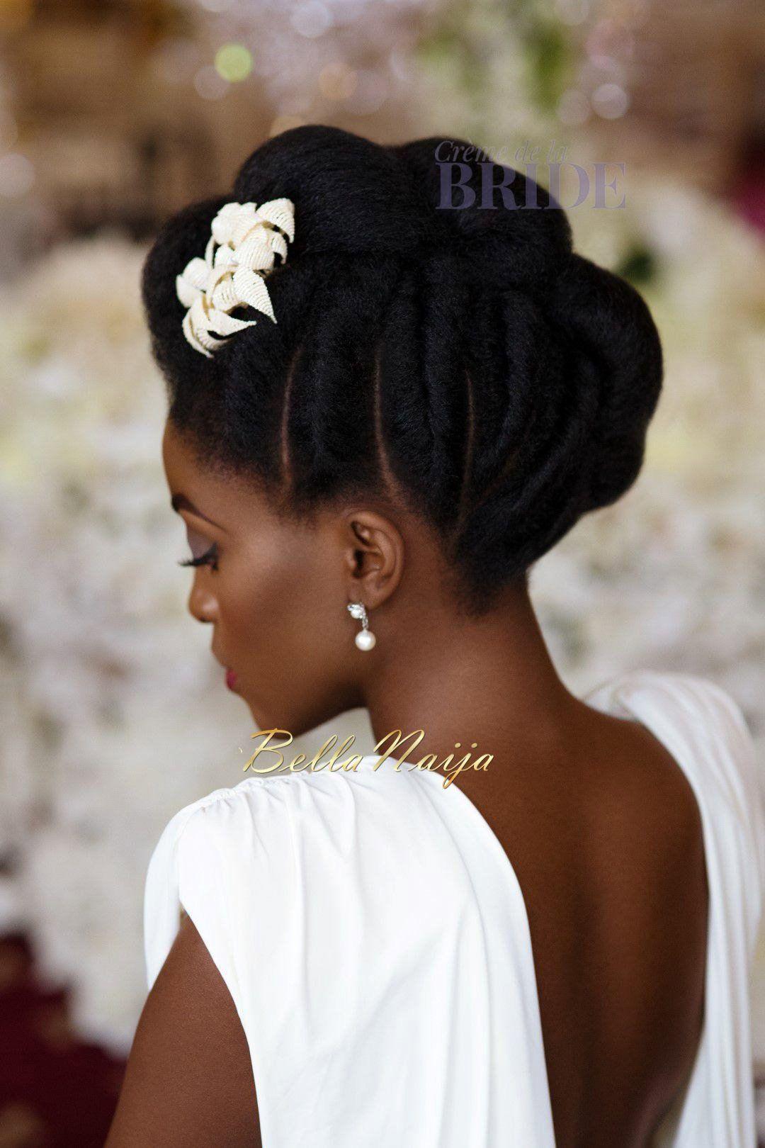 dionne smith natural hair bride inspiration - bellanaija