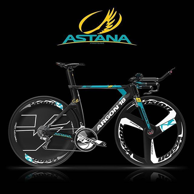 Here is it: the new TT @argon18bike for 2017 season! Looks great! #proteamastana #cycling #argon18bike #astana #cyclinglife