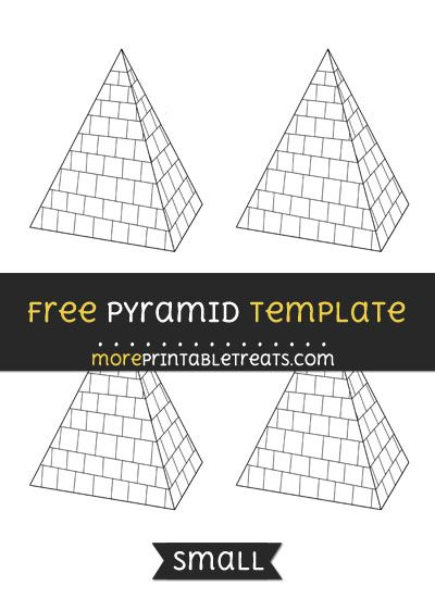 Free Pyramid Template - Small Shapes and Templates Printables - pyramid template