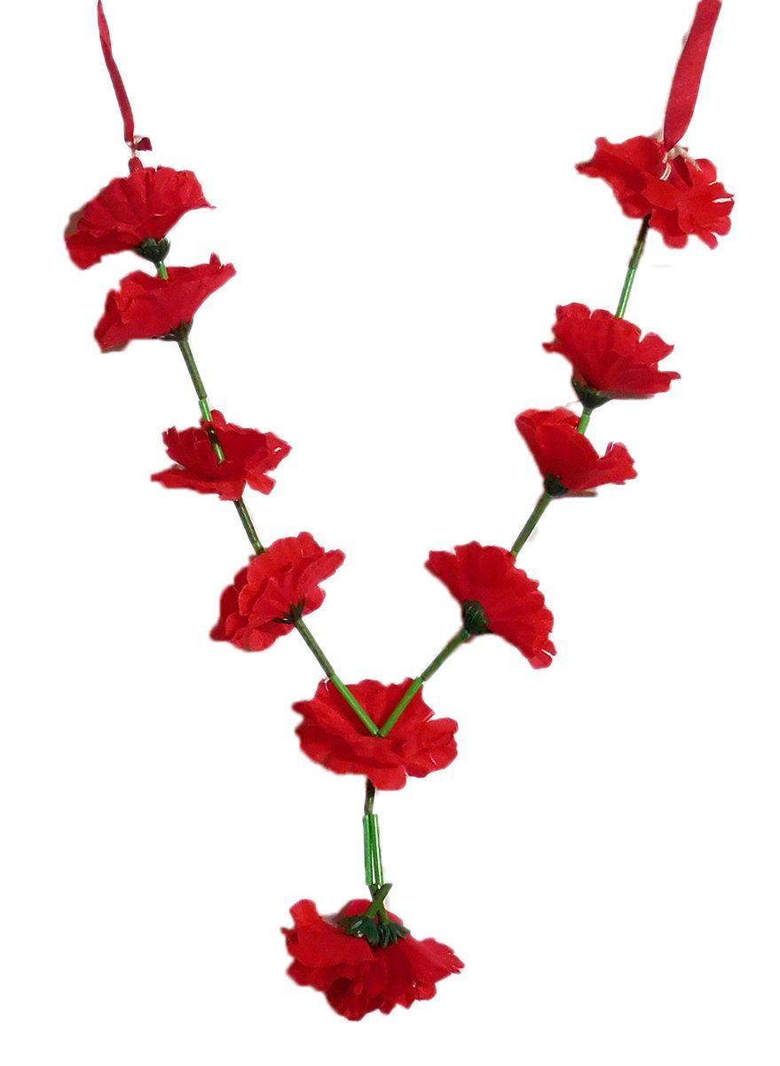 Red Cloth Hibiscus Flower Garland Hibiscus Flowers Flower Garlands Flowers