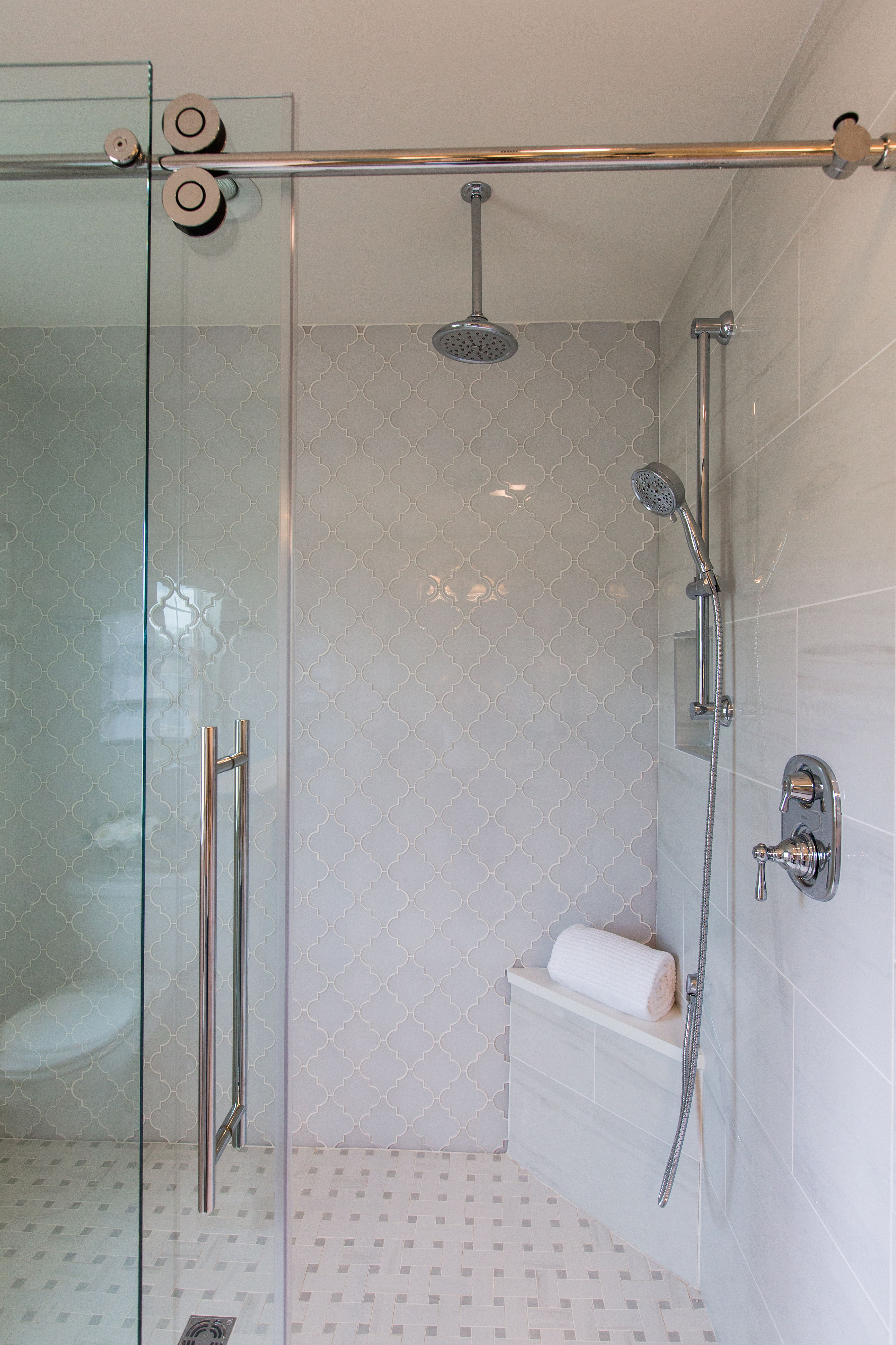 Dream Home Walk In Shower Tile On Floor And Walls Diamond Style