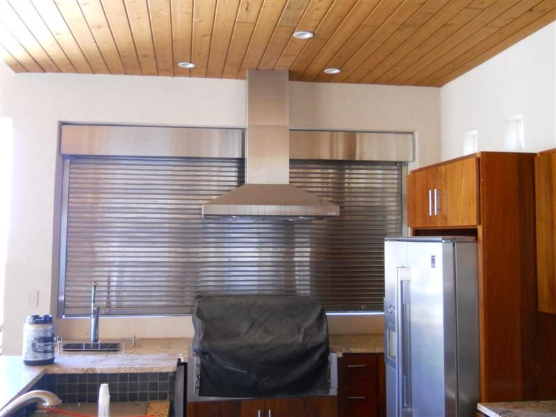 These Is A Stainless Steel Roll Up Door That We Did For A