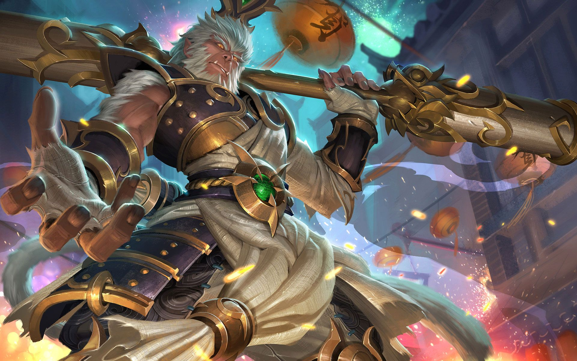 Download wallpaper Fanart Concept Radiant Wukong Skin by