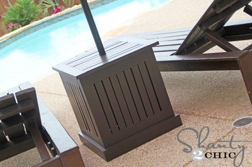 Hampton Umbrella Side Tables Outdoor Umbrella Stand Patio Umbrella Stand Patio Umbrellas Diy
